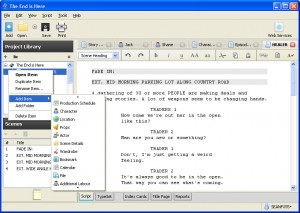 Writing a script try Celtx
